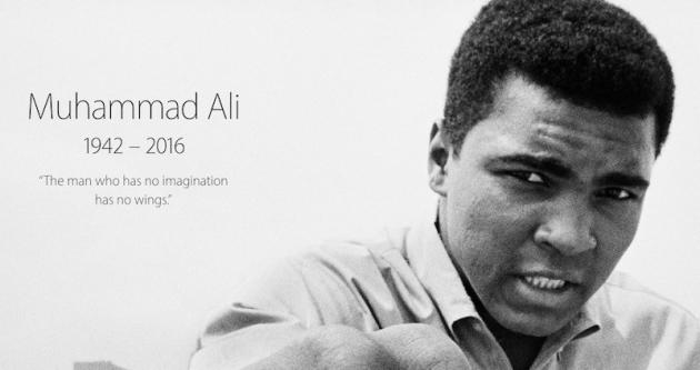 Η Apple τιμά την ζωή του Μοχάμεντ Άλι (Muhammad Ali) στην αρχική σελίδα της apple.com