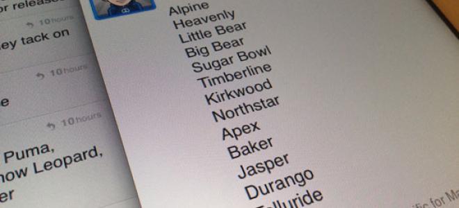 Οι κωδικές ονομασίες των εκδόσεων του iOS